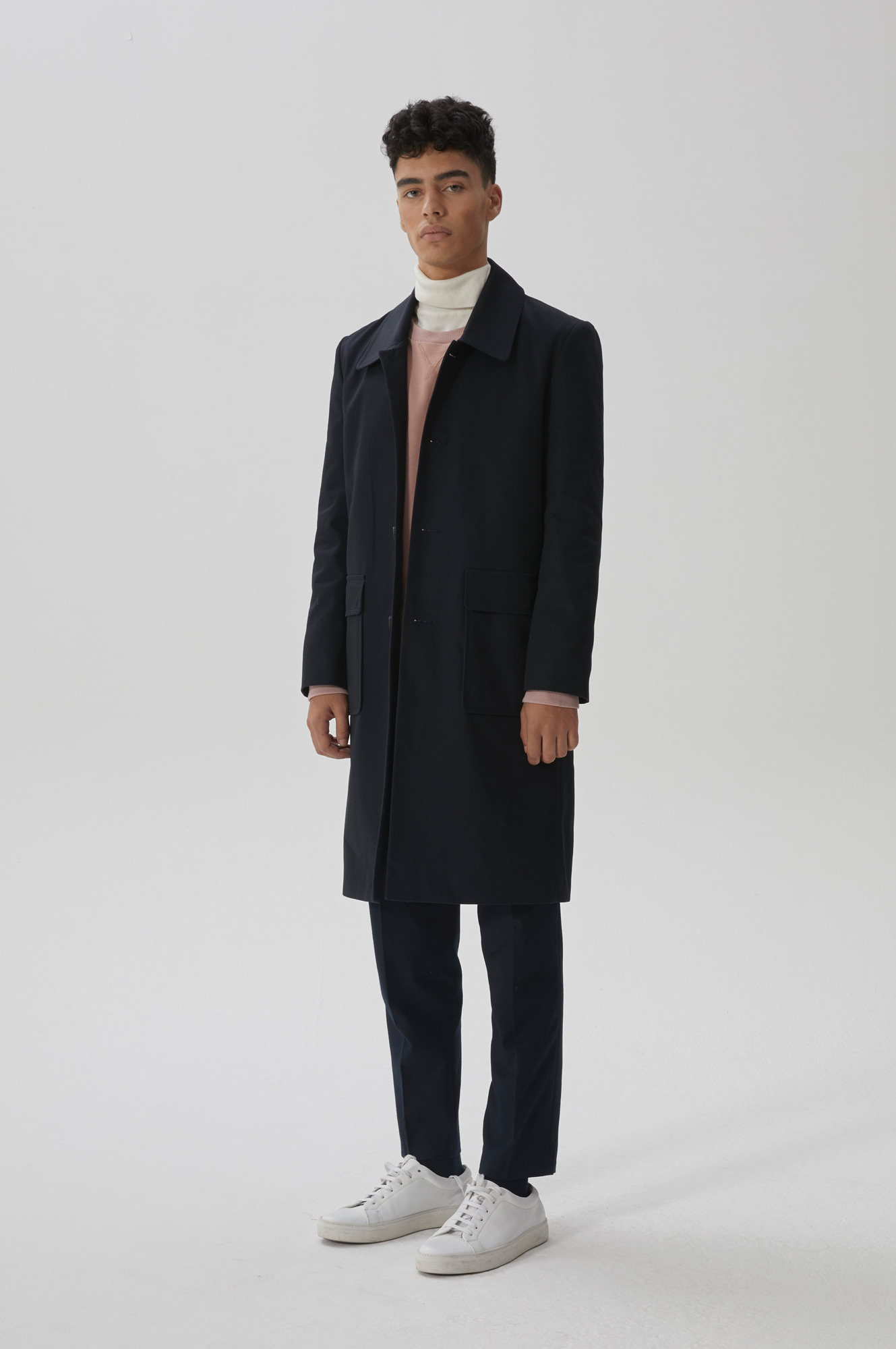 POCKET MAC COAT(NAVY)
